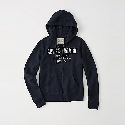 麋鹿 AF 限定款經典刺繡標誌連帽外套(女)-深藍色