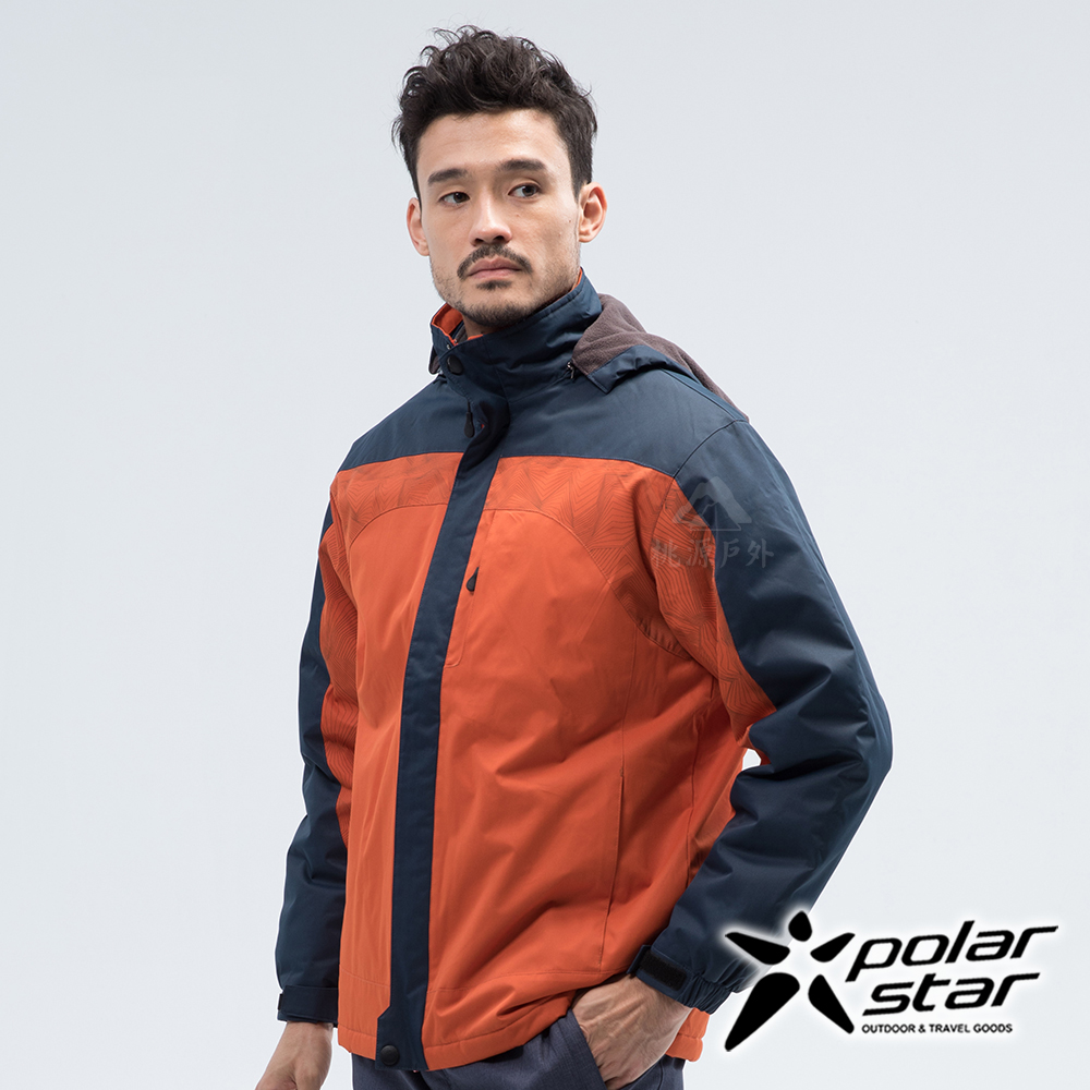 PolarStar 中性 防風保暖外套『暗橘』 P18219