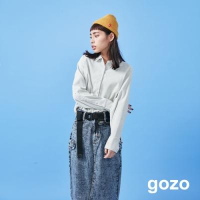 gozo 燈芯絨小愛心襯衫(二色)