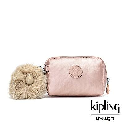 Kipling 金屬光暈微醺粉經典拉鍊化妝包-INAMI S