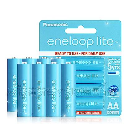 藍鑽輕量版 Panasonic eneloop lite 低自放3號充電電池(8顆入)