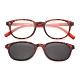 【 Z·ZOOM 】老花眼鏡 磁吸太陽眼鏡系列 時尚復古經典款 (紅豹紋色) product thumbnail 1
