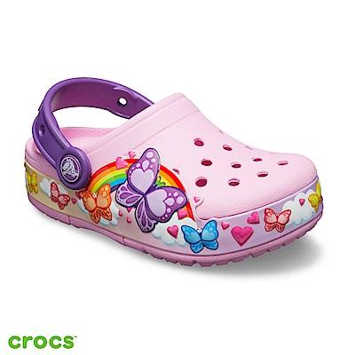 Crocs 卡駱馳 (童鞋)趣味學院蝴蝶酷閃小克駱格-205649-6I2