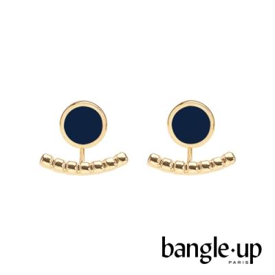 BANGLE UP 典藏巴黎琺瑯耳掛式兩用耳環-午夜藍