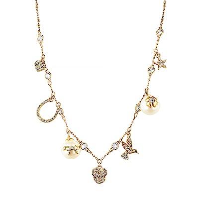 kate spade經典多樣圖案設計鑽鑲飾項鍊(金)