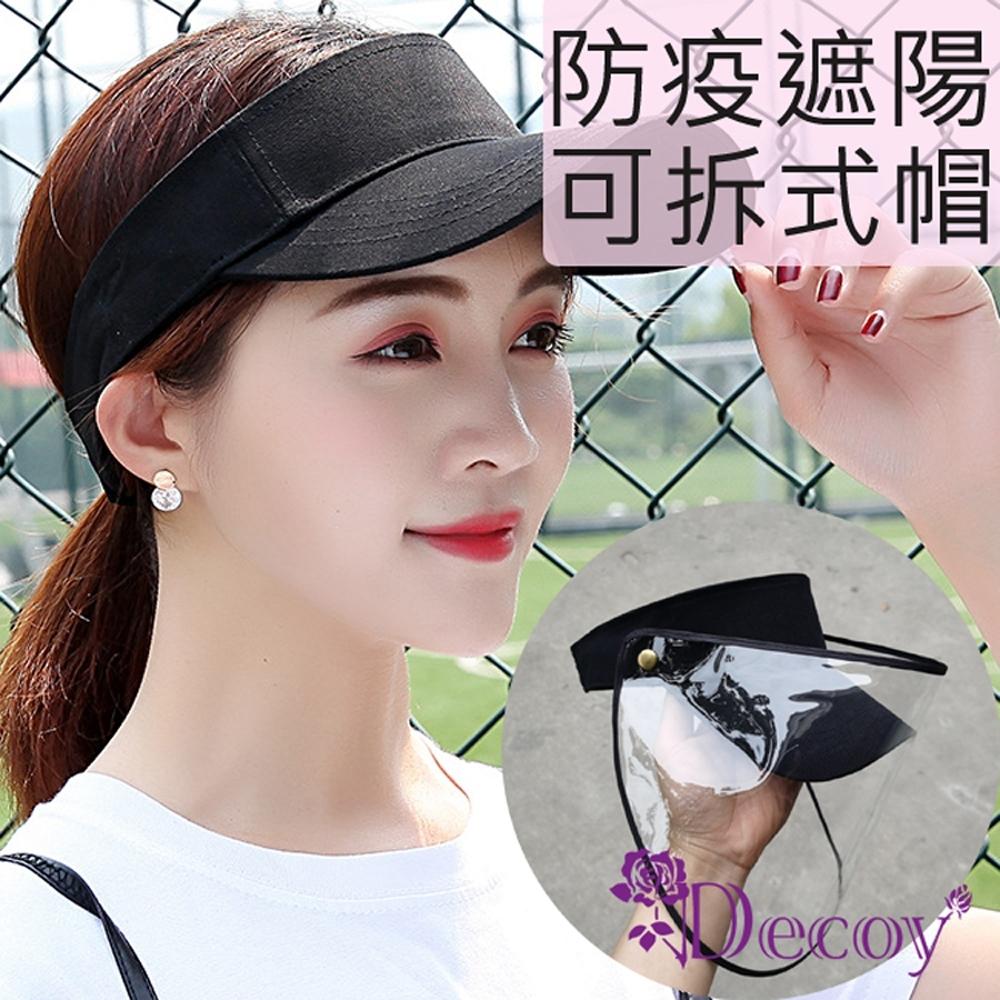 Decoy 可拆透視 防疫飛沫防風雨防塵遮陽帽 黑 (搭配口罩/防肺炎傳染病)
