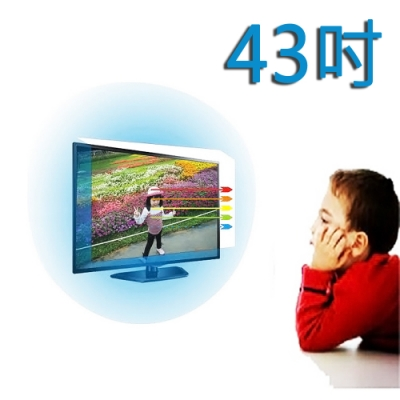 台灣製~43吋[護視長]抗藍光液晶螢幕護目鏡 禾聯系列四 新規格