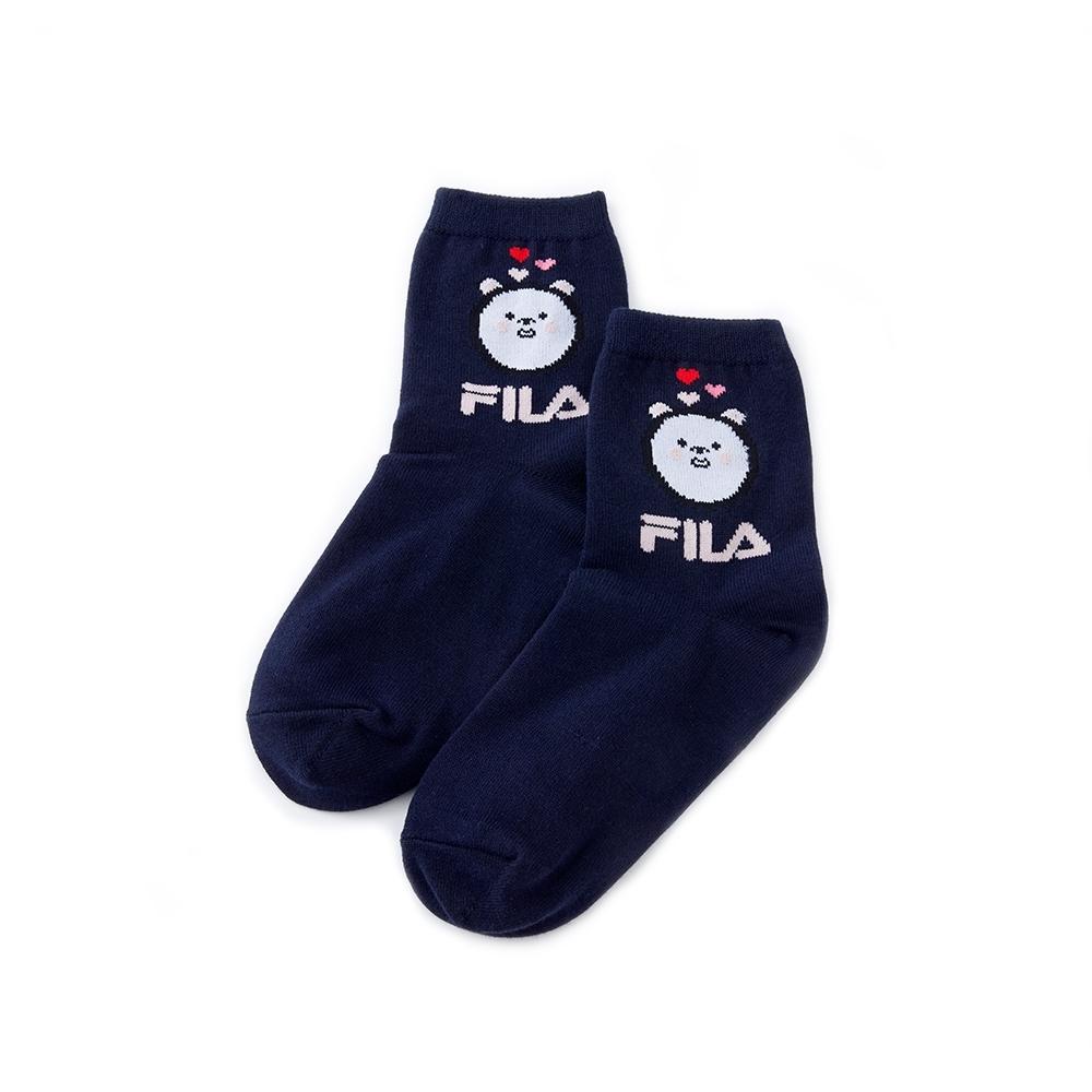 FILA 造型薄底短襪-丈青 SCU-5302-NV
