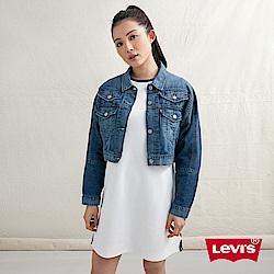 Levis 女款 短版牛仔外套 超薄丹寧布 Double cross