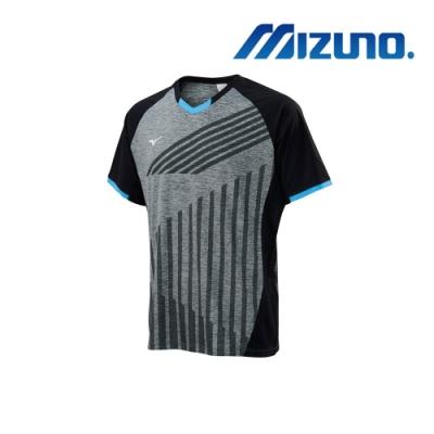 Mizuno 美津濃 男桌球短袖T恤 麻灰X黑 82TA900106
