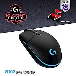 羅技 G102 炫彩遊戲滑鼠-黑