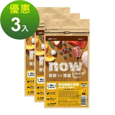 Now! 鮮肉無穀天然糧 中型幼母犬配方 300克 三件組