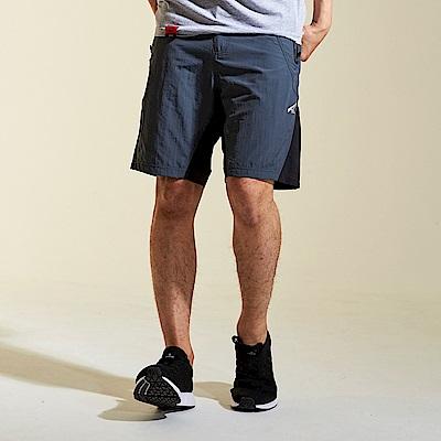 【AIRWALK】拼接風衣五分褲-深灰色