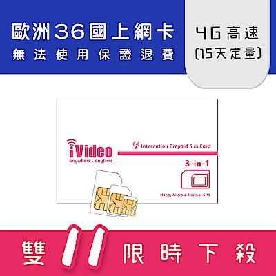 iVideo歐洲上網卡 SIM卡 10GB 15天