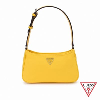 GUESS-女包-氣質簡約純色輕便單肩包-黃 原價2290