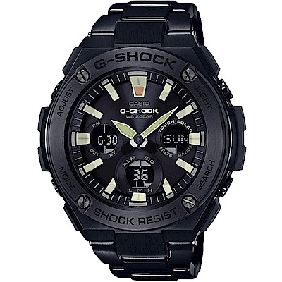 G-SHOCK創新突破分層防護絕對強悍休閒錶(GST-S130BD黑離子IP/52.4mm