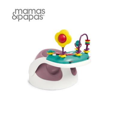 (時時樂限定)【Mamas & Papas】二合一育成椅v2含玩樂盤-乾燥玫瑰