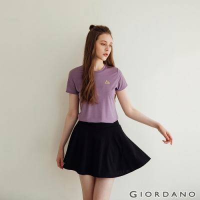 GIORDANO  女裝G-MOTION輕盈涼感T恤 - 53 仿段彩水仙花紫