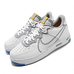 Nike 休閒鞋 Air Force 1 React 男鞋 輕量 舒適 簡約 球鞋 穿搭 AF1 灰 藍 CT1020100