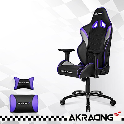AKRACING-超跑電競椅GT33 Overture-銀x紫