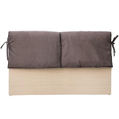 綠活居 蘇亞比3.5尺單人白橡床頭片(二色)-109.5x8.5x92cm免組