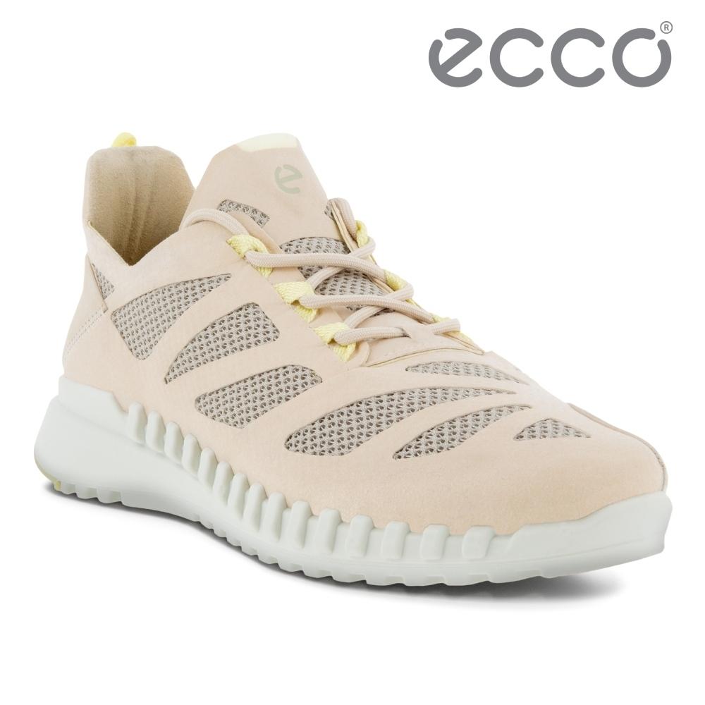 ECCO ZIPFLEX W 酷飛拼接設計運動戶外休閒鞋  女鞋 石灰色