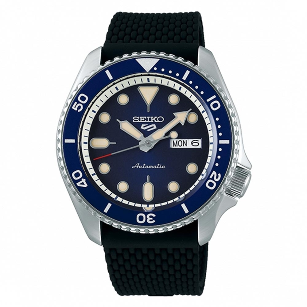SEIKO 精工5 Sports 系列鋼帶機械錶-藍水鬼(SRPD71K2)-42.5mm