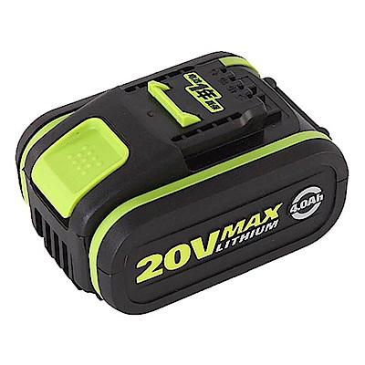 【WORX威克士】20V鋰電池4.0Ah-綠