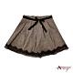 Annys華麗壓褶蕾絲裙襬短裙*3248咖啡 product thumbnail 1