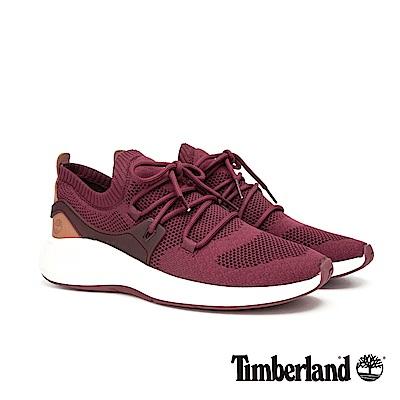 Timberland 男款FlyRoam紅色編織運動鞋