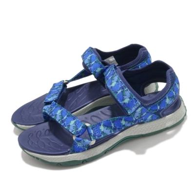 Merrell 涼鞋 Kahuna Web 魔鬼氈 夏日必備 童鞋 避震 耐磨 抓地 透氣 中大童 藍 灰 MK264948