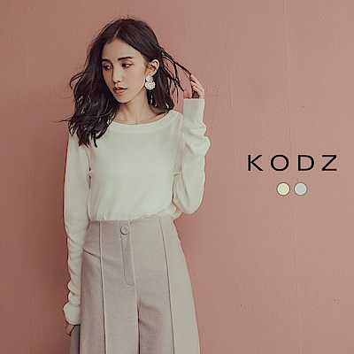 東京著衣-KODZ 小心機美背款鏤空設計綁帶針織上衣-S.M.L(共二色)