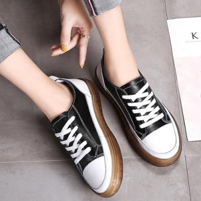 LN 極簡輕量真皮厚底休閒鞋-4色