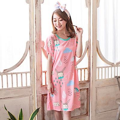 Young Curves 牛奶絲質連身睡衣(雨天小娃C01-100569)