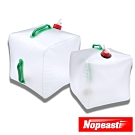 Nopeasti諾比 戶外露營登山折疊收納應急便攜水桶/水袋/白10L+20L