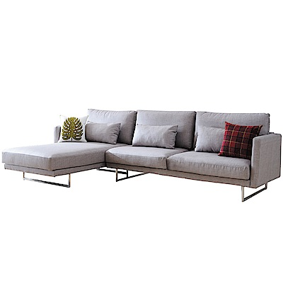 品家居 艾伊貓抓皮L型獨立筒沙發組合(左&右二向)-300x182x67cm免組