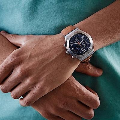 Swatch 金屬系列手錶 COGNAC WRIST-43mm