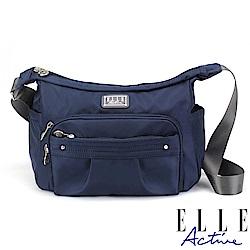 ELLE Active 優雅隨行系列-側背包/斜背包-大-深藍色
