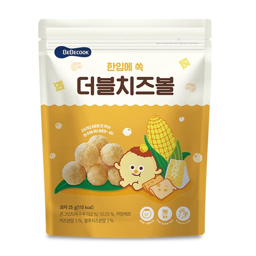 韓國【BEBECOOK】嬰幼兒玉米球-雙倍起司(25g)