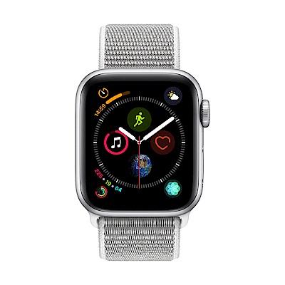Apple Watch Series 4(GPS) 44mm銀色鋁金屬錶殼+貝殼白色錶環