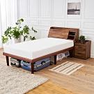 時尚屋  野崎3.5尺床箱型4件房間組-床箱+高腳床+床頭櫃+床墊