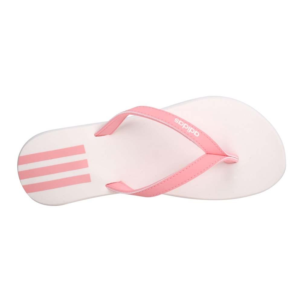 ADIDAS 女運動夾腳拖鞋-海邊 海灘 戲水 游泳 沙灘 人字拖 愛迪達 EG2035 白粉紅