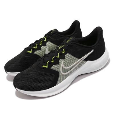 Nike 慢跑鞋 Downshifter 11 運動 男鞋 輕量 透氣 舒適 避震 路跑 健身 球鞋 黑 白 CW3411-003