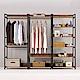 Boden-諾德8尺開放式組合衣櫃(雙吊+單桿+多層收納)-240x44x191cm product thumbnail 1