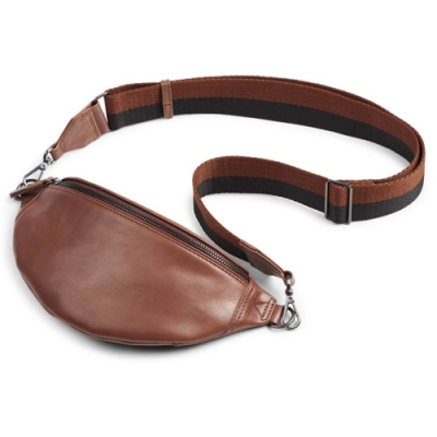 MARKBERG Izzy 丹麥手工牛皮時尚小腰包 胸包 斜背包 (古栗棕)