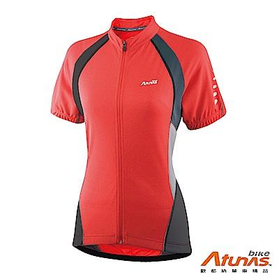 《Atunas 歐都納 Bike》B13037W 女吸濕排汗短袖車衣 紅