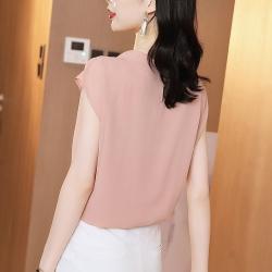 初色  簡約文藝刺繡上衣-粉色-(M-2XL可選)