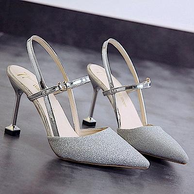 KEITH-WILL時尚鞋館 歐洲款柔美亮眼跟鞋-銀色