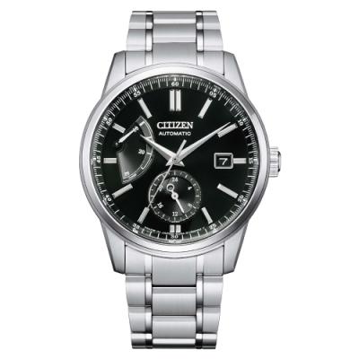 CITIZEN Mechanical 正能量動力儲存機械紳士腕錶-銀X黑-NB3001-53E-40.5mm