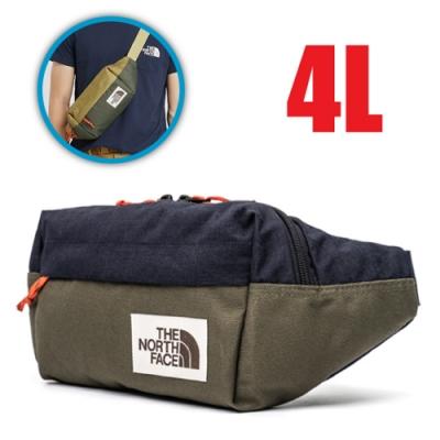 The North Face 新款 輕巧便捷休閒斜背包4L(雙向拉鍊)/單肩包.腰包.零錢置物包_藍綠 N